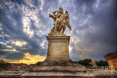 Photograph - Angel Of Castel Sant Angelo by Yhun Suarez
