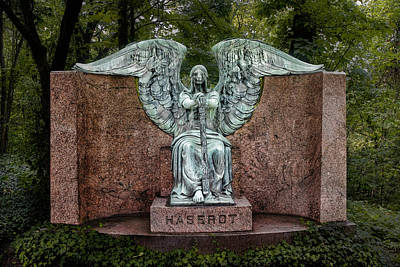 Granite Photograph - Angel Of Death Lake View Cemetery by Tom Mc Nemar