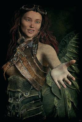 Painting - Angel Of Deliverance by Maynard Ellis
