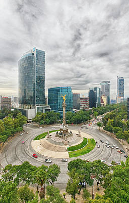 Mexico Photograph - Angel Of Independence, Mexico City by Sergio Mendoza Hochmann