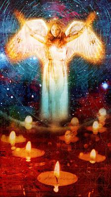 Angel Of Light  Print by Mark Preston