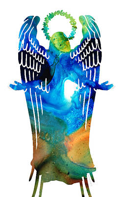Healing Mixed Media - Angel Of Light - Spiritual Art Painting by Sharon Cummings
