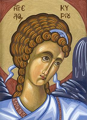 Egg Tempera Painting - Angel Of Lord by Mariela Constantinidis