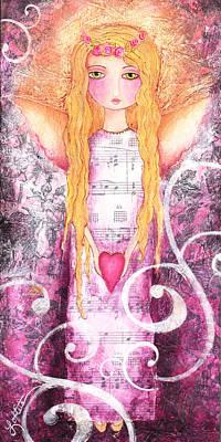Angel Of Love Art Print by Joann Loftus
