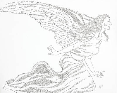 Drawing - Angel Of Love by Lorraine Foster