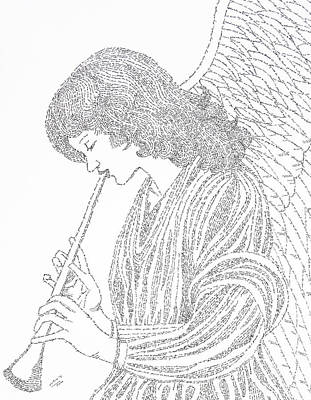 Drawing - Angel Of Music by Lorraine Foster