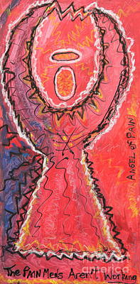 Painting - Angel Of Pain by Kelly Athena
