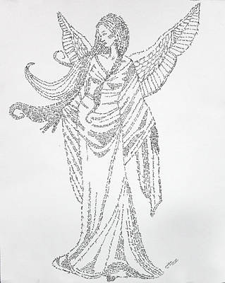 Drawing - Angel Of Peace by Lorraine Foster