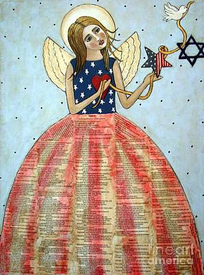 American Jewish Artists Painting - Angel Of Peace by Stewalynn Art