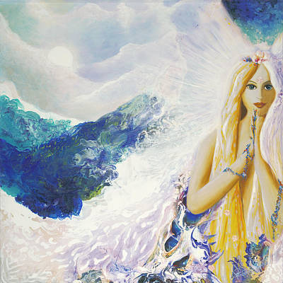 Angel Of Peace Art Print by Valerie Graniou-Cook