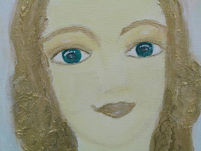 The Key To Success Painting - Angel Of Self Confidence by Asolaria Liberalis