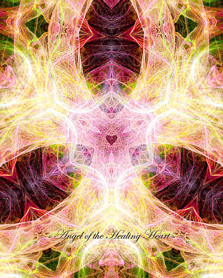 Digital Art - Angel Of The Healing Heart by Diana Haronis