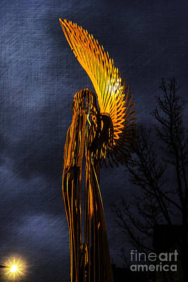 Photograph - Angel Of The Morning Textured by Steve Purnell