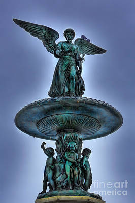 Photograph - Angel Of The Waters Fountain - Bethesda IIi by Lee Dos Santos