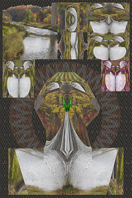 Royalty Free Images Mixed Media - Angel Of The Wild Appreciating Digital Art Convert A River And Jungle Into A Statue River Converted  by Navin Joshi