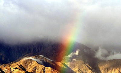 Photograph - Angel On The Mountain With Rainbow by Patrick Morgan