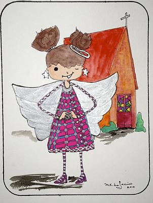 Angel Or- Art Print by Mary Kay De Jesus