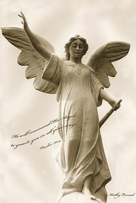 Angel Religious Spiritual Inspirational Art Print by Kathy Fornal
