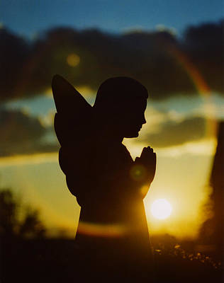 Religious Angel Art Photograph - Angel Silhouette by Gothicrow Images