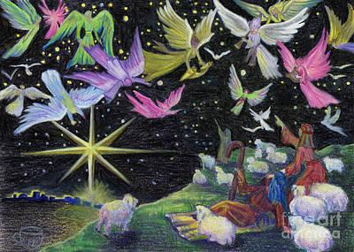 Angel Skies Art Print by Nancy Cupp