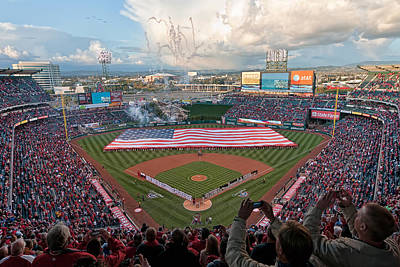 Angel Stadium Of Anaheim Art Print