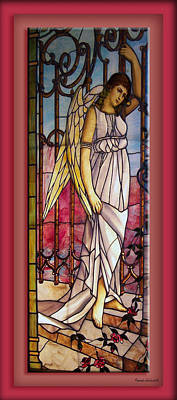 Leadlight Photograph - Angel Stained Glass Window by Thomas Woolworth