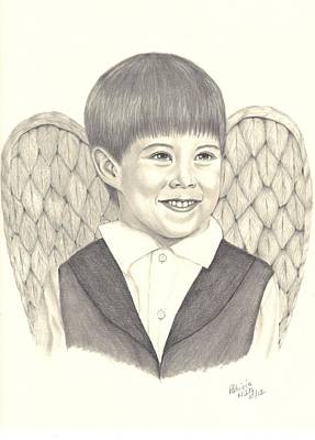 Art Print featuring the drawing Angel Too by Patricia Hiltz