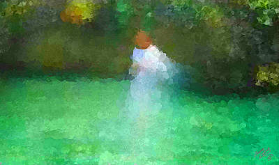 Seraphim Painting - Angel Walking On Water by Bruce Nutting