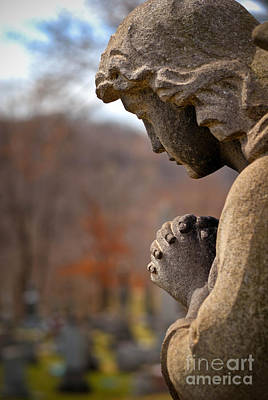 Cemetery Photograph - Angel Watching Over by Amy Cicconi