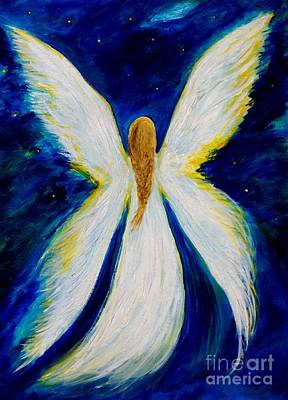 Painting - Angel Wings Above by Leslie Allen