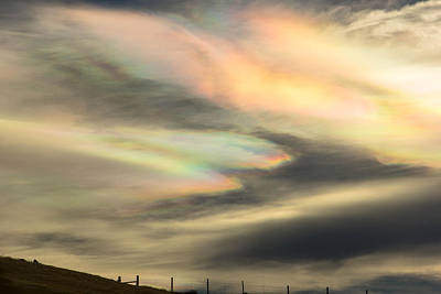 Angel Wings In Rainbow Clouds Art Print