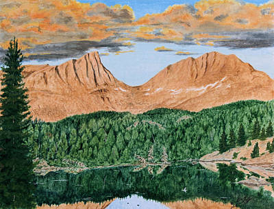 Painting - Angel Wings Pass Sunset by Darcy Tate