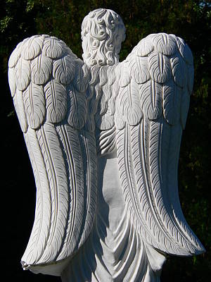 Photograph - Angel Wings Statue by Jeff Lowe