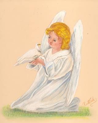 Painting - Angel With Dove by Ruth Seal