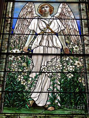Photograph - Angel With Flowers by Ed Weidman