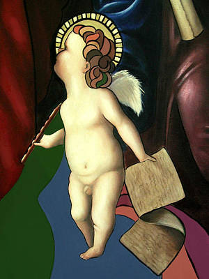 Angel With Flute Print by Anthony Falbo