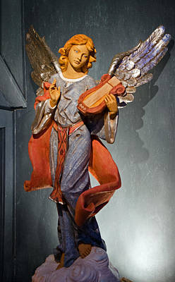 Photograph - Angel With Harp by Susan McMenamin