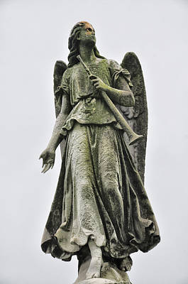 Angels Photograph - Angel With Trumpet by Bill Cannon