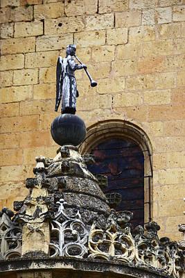 Angel With Trumpet Segovia Art Print by James Brunker