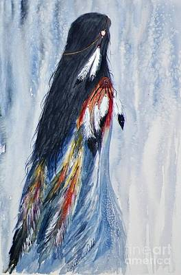 Pow Wow Painting - Angel Woman by Elizabeth  Webb