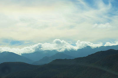 Photograph - Angeles Forest And Clouds by Deprise Brescia