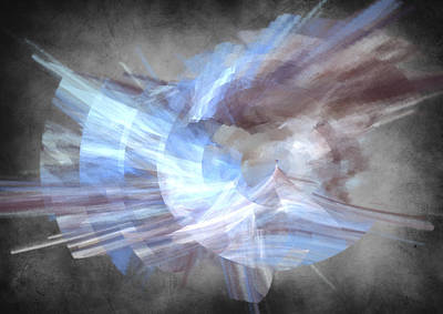 Blue Digital Art - Angelic by Betsy Jones