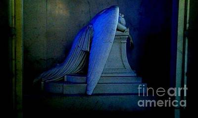 Photograph - Angelic Blue Sorrow by Michael Hoard