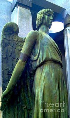 Print featuring the photograph Angelic Guard by Michael Hoard