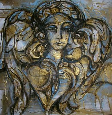 Angelic Sorrow Art Print by Julie Lee