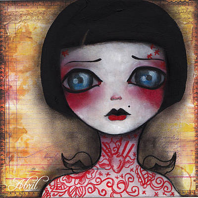 Pop Surrealism Painting - Angelica by  Abril Andrade Griffith