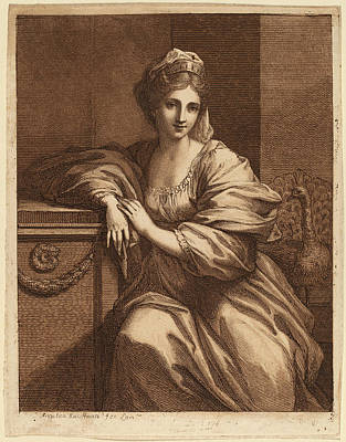 Brown Swiss Drawing - Angelica Kauffmann, Juno, Swiss, 1741 - 1807 by Quint Lox