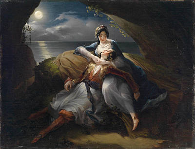 By Ariosto Painting - Angelika And Medor. Scene From  Orlando Furioso By Ludovico Ariosto by Mihael Stroj