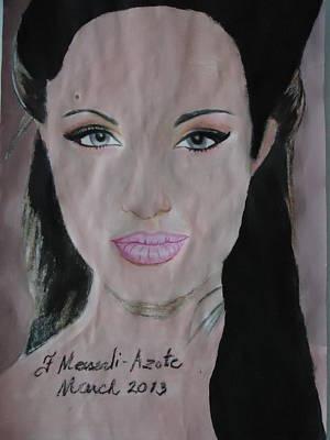 Angelina Art Print by Fladelita Messerli-