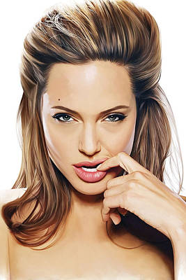 Angelina Painting - Angelina Jolie Artwork 2 by Sheraz A
